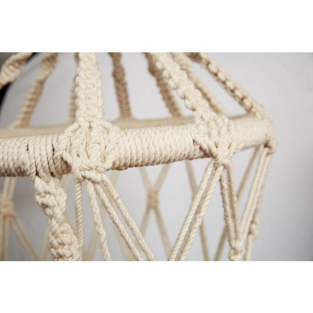 Vintage Boho Chic Macrame Hanging Chair For Sale In Atlanta - Image 6 of 13