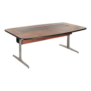 1960s Walnut and Leather Desk by George Nelson for Herman Miller For Sale