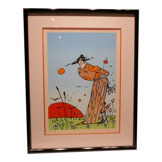 "Original Pencil Signed Peter Max Seriograph ""Spring Days"" 26/250 1978 For Sale"