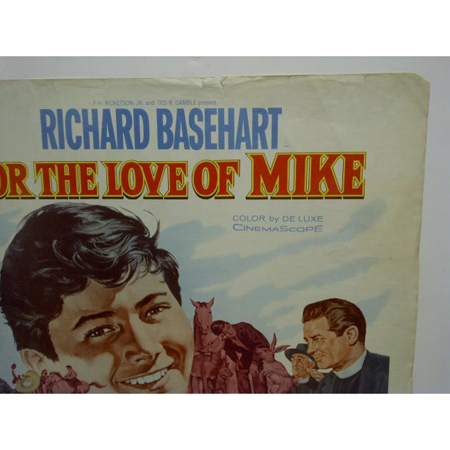 """1960s 1960s Vintage Movie Poster """"For the Love of Mike"""" by Richard Basehart For Sale - Image 5 of 5"""