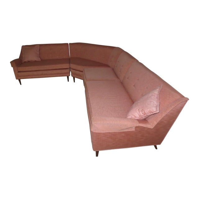 Mid 1960s 4-Piece Sectional with Corner Table - Set of 5 - Image 1 of 5