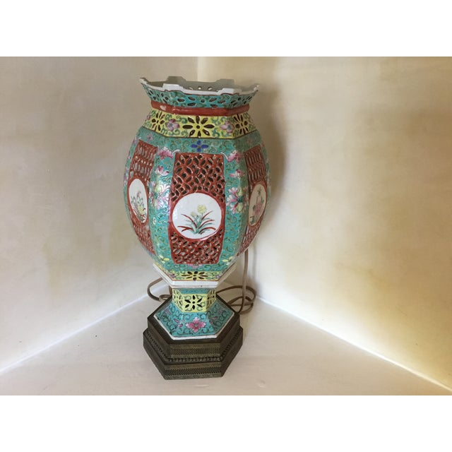 Gorgeous Asian lantern lamp. Not sure of age.