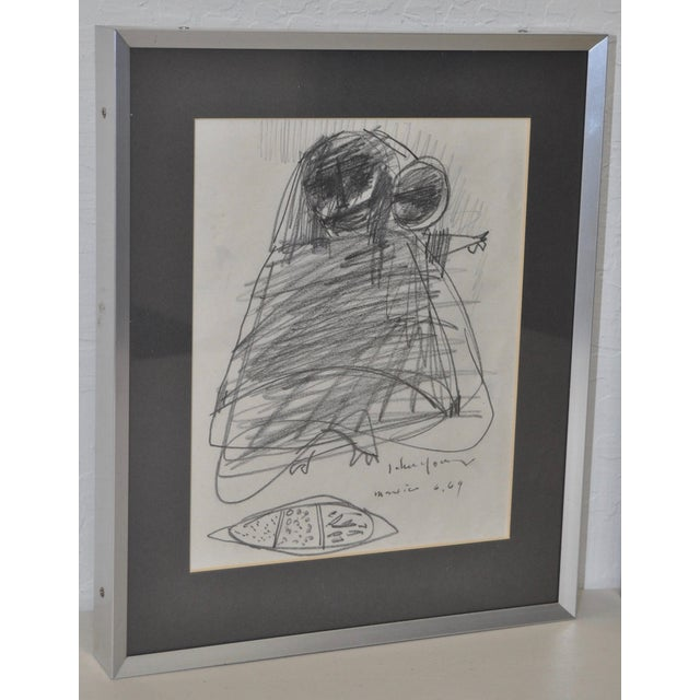 John Young Graphite Drawings - Pair For Sale - Image 4 of 7