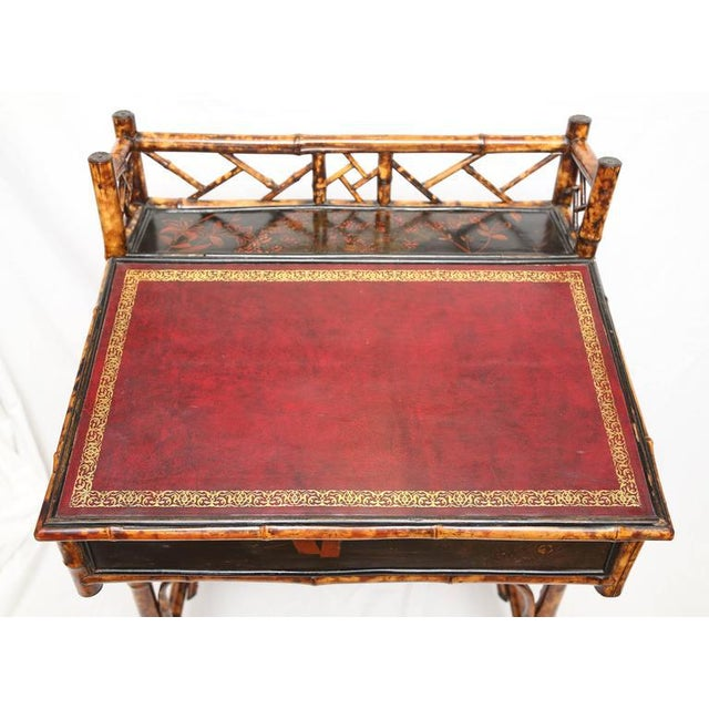 1900s Boho Chic Bamboo Davenport Desk For Sale In West Palm - Image 6 of 8