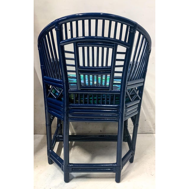 Chinese Pair of 1970s Chinese Chippendale Style Bamboo Chairs For Sale - Image 3 of 8