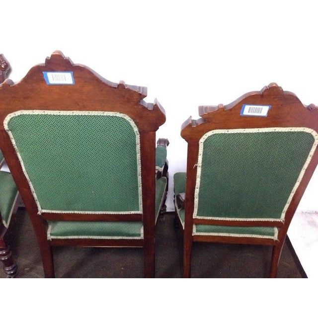 Rococo Rococo Revival Carved Dining Chairs - Set of 4 For Sale - Image 3 of 4
