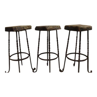 Industrial Reclaimed Bar Stools Iron For Sale