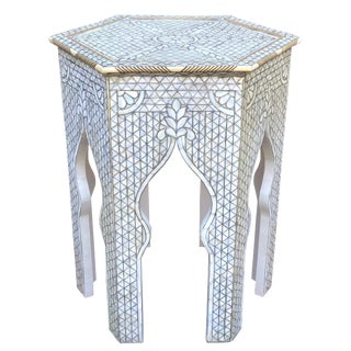 Mother of Pearl Inlaid Moroccan / Syrian Side Table