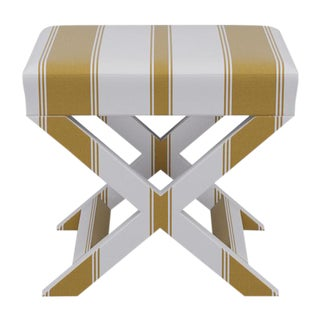 X Bench in Citrine Clarence Stripe For Sale