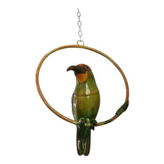 Paper Mache Bird on Ring For Sale