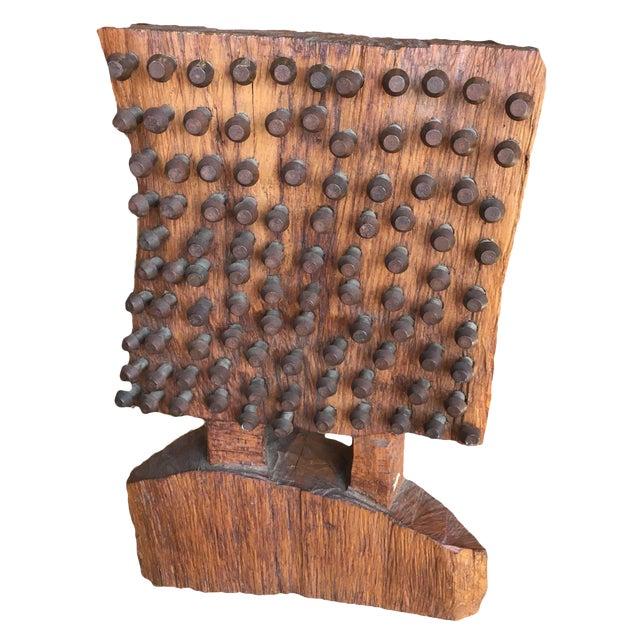 Mid-Century Brutalist Wood Sculpture - Image 1 of 8