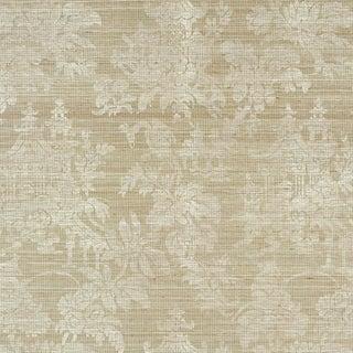 Sample - Schumacher Brighton Sisal Wallpaper in Fog For Sale