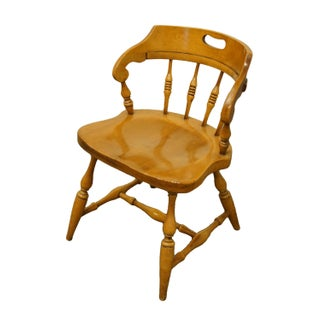 Late 20th Century Drexel Heritage Solid Hard Rock Maple Colonial Style Dining Chair Preview
