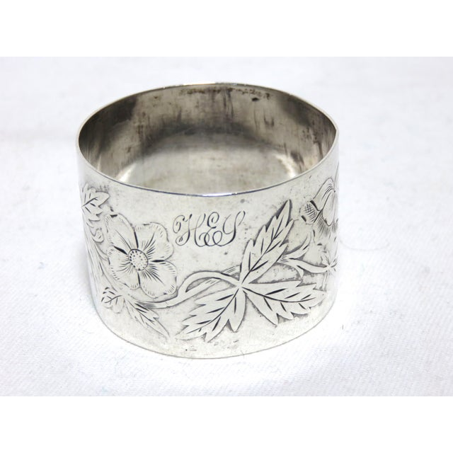 Late 19th Century Antique American Sterling Silver Napkin Ring For Sale - Image 5 of 5
