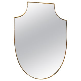 Midcentury Italian Shield Shape Mirror, 1960s For Sale