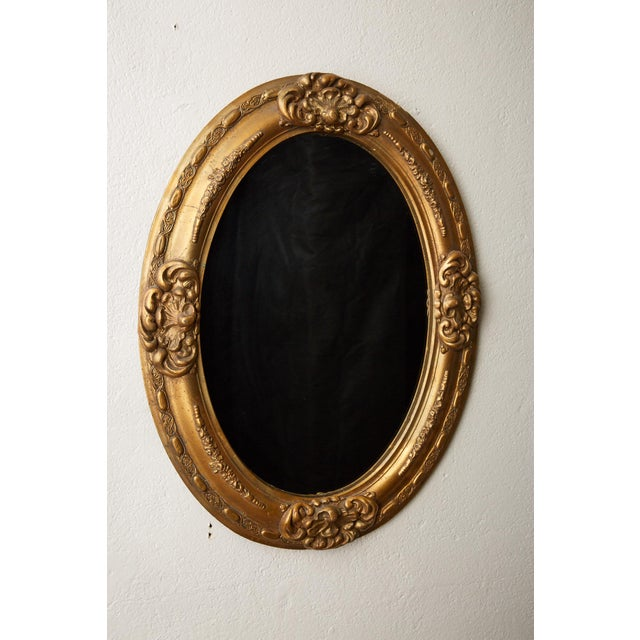 1900 - 1909 Antique Oval Gilt Mirror For Sale - Image 5 of 7