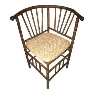Bamboo Rattan Corner Chair For Sale
