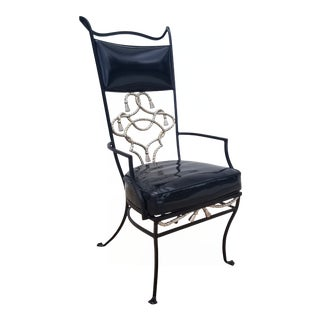 1970s Vintage French Hollywood Regency Style Sculptural Accent Chair For Sale