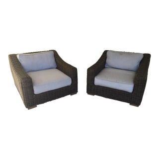 Zuo Mod Outdoor Club Chairs - A Pair
