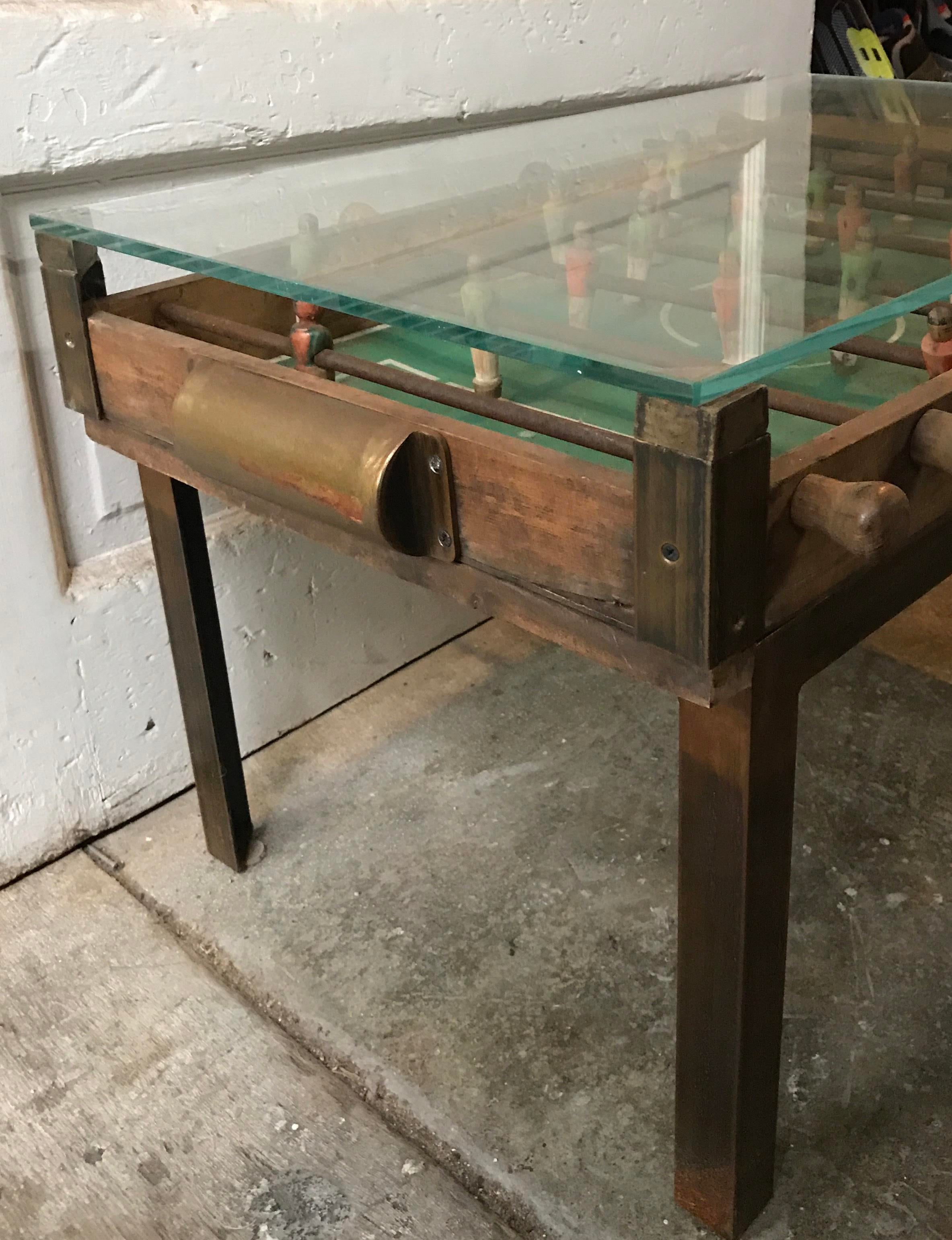 Antique Foosball Coffee Table Chairish