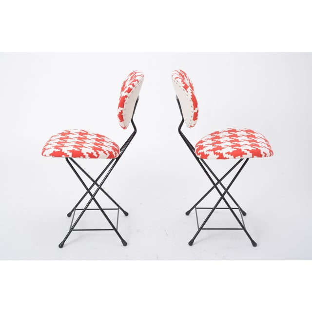 Mid-Century Modern Pair of Rare Reupholstered F & T Chairs by Rob Parry, Netherlands, 1950s For Sale - Image 3 of 7