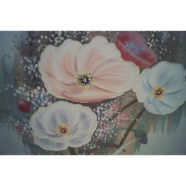 "Lee Reynolds (aka Lee Burr, American 1936-) oil canvas ""Flowers"" singed and framed. This is an amazing piece of art. Super..."