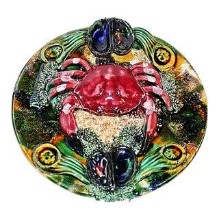 Ceramic Majolica Crab Plate