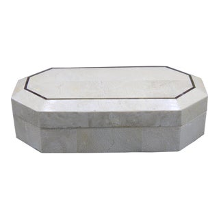 Late 20th Century Faux Marble Stone Box For Sale