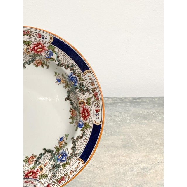 Late 19th Century Set of 4 Cauldon Soup Plates, England For Sale - Image 5 of 7