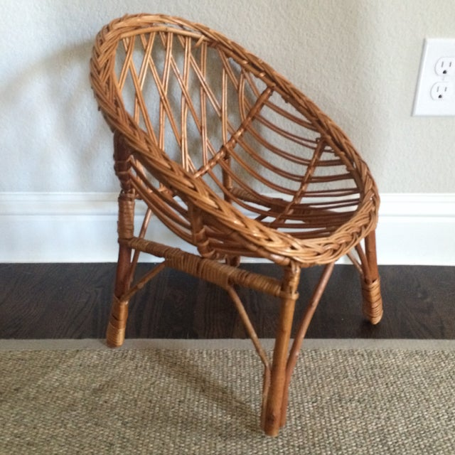 Vintage Child's Wicker Chair - Image 6 of 6