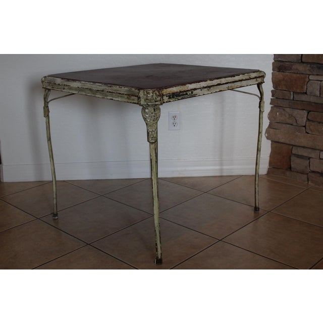 Art Deco Folding Game Table For Sale In Phoenix - Image 6 of 11