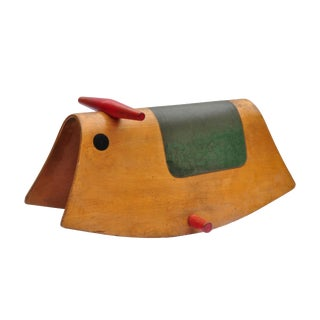 Wooden Rocking Horse, Europe, 1950s For Sale