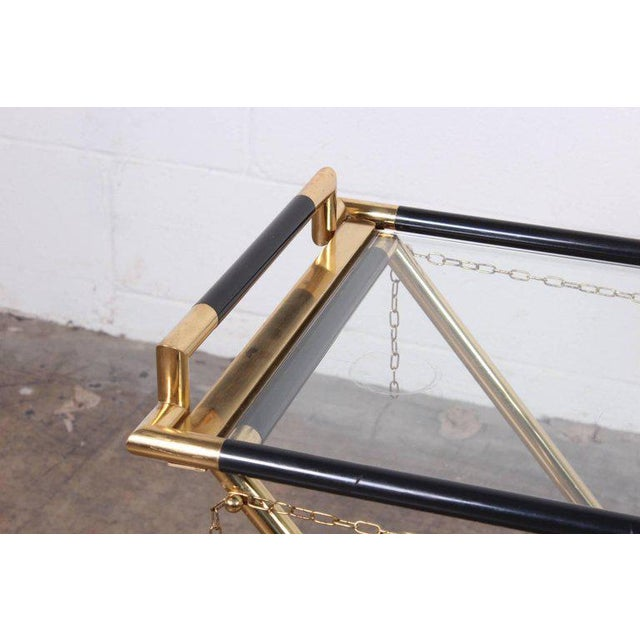 Italian Folding Tray Table in Brass For Sale - Image 4 of 9