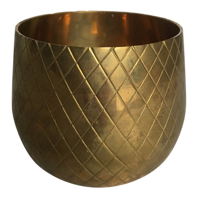 Modern Brass Candle Votive For Sale