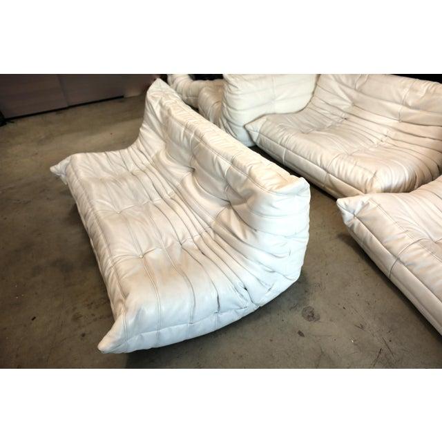 Vintage White Ligne Roset Togo Sofa Set Designed by Michel Ducaroy For Sale - Image 10 of 13