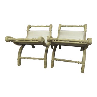 Vintage X Benches- A Pair For Sale