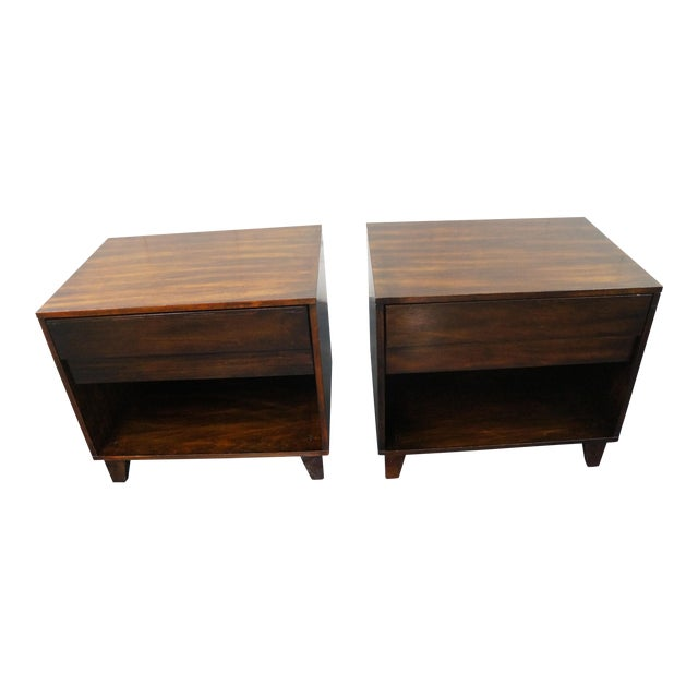 Mid-Century Modern Nightstands- A Pair - Image 1 of 9