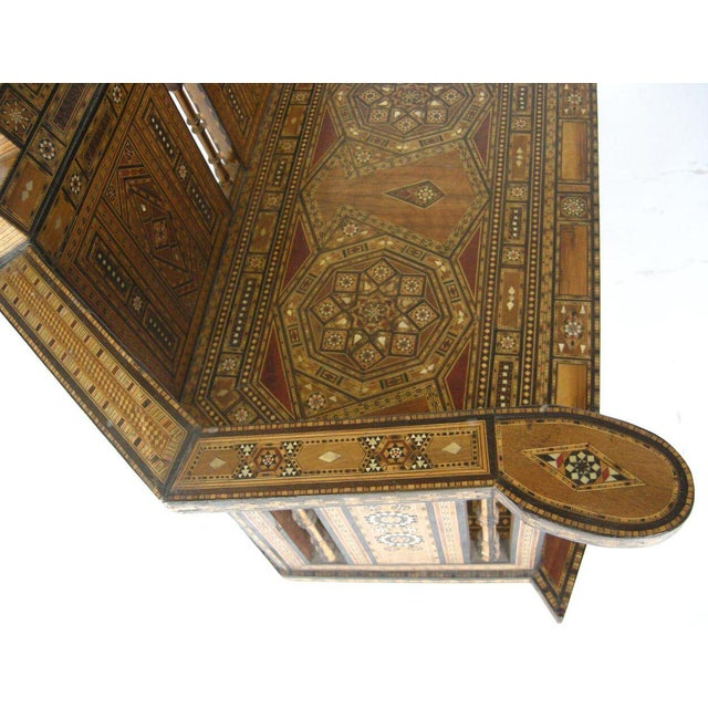 Levantine Syrian Inlay/Parquetry Bench For Sale In Los Angeles - Image 6 of 11