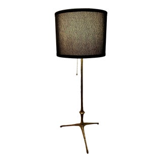 Rare Bronze Felix Agostini Tripod Table Lamp For Sale