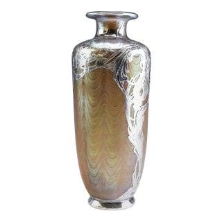 Loetz Phänomen Silver Overlay Vase For Sale
