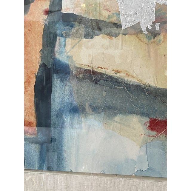 Vintage Harold Larson Painting Abstract Mixed Media Collage For Sale - Image 10 of 13