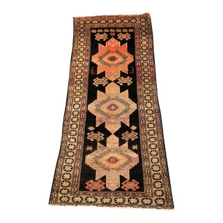 Vintage Persian Hamadan Small Runner - 3′5″ × 8′1″