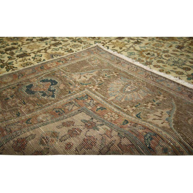 """Vintage Persian Tabriz Art Deco Style Rug - 9'8"""" X 12'7"""" For Sale - Image 4 of 6"""