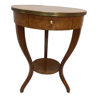 Baker Regency Style Side Table / Nightstand For Sale