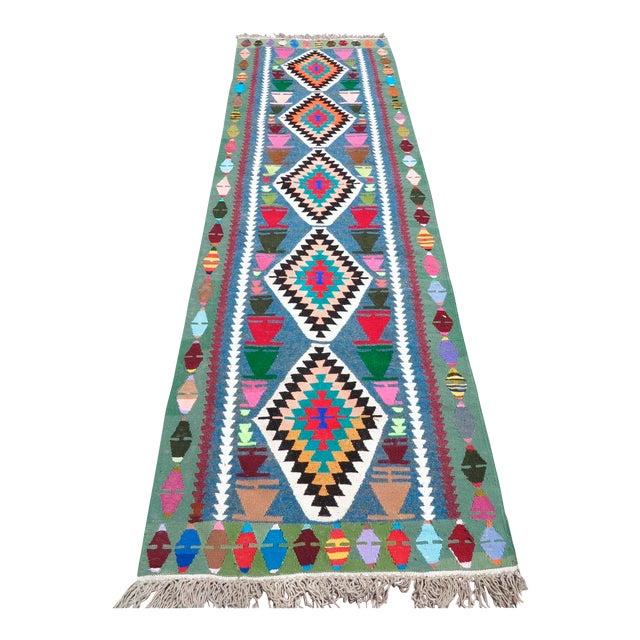 Vintage Turkish Kilim Runner Rug - Image 1 of 9
