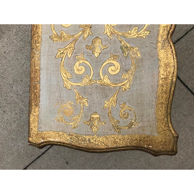 Italian Florentine Gold Cabinet For Sale - Image 5 of 6