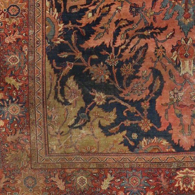 Late 19th Century Antique Farahan Rug with Modern Industrial Style, Persian Area Rug For Sale - Image 5 of 8