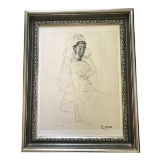 """1967 Vintage Picasso """"Jacqueline en Espagnole 1955"""" Lithograph Print For Sale"""