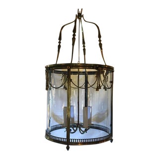 1930s French Bronze Lantern With Four Candle Holders For Sale