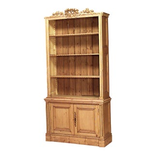 English Country Stripped Pine Bookcase For Sale